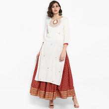 野的(小)li印度女装奶ed纯棉传统民族风中长式服饰上衣新式