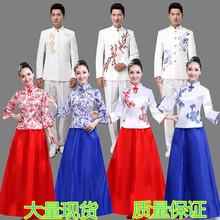 高档青li瓷大合唱演ns成的中国风民乐古筝二胡朗诵表演服男女