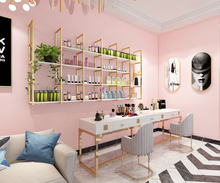 美甲架li产品货架展p3上壁挂简约现代店面美容院化妆品展示柜