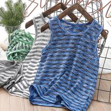 男童速li(小)背心网眼on湿排汗弹力户外夏季宝宝运动无袖T恤潮