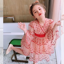 女童连li裙夏装20on式宝宝夏季雪纺宝宝裙子女孩韩款洋气公主裙
