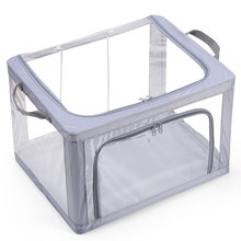 透明装li服收纳箱布al棉被收纳盒衣柜放衣物被子整理箱子家用