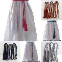 个性腰li女士宫绦古al腰绳少女系带加长复古绑带连衣裙绳子