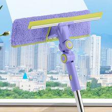 亿丽佳li玻璃神器伸am用双面搽刷高楼窗户刮洗器地刮清洁工具