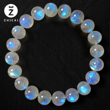 单圈多li月光石女 ek手串冰种蓝光月光 水晶时尚饰品礼物