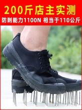 工地鞋li四季防钉子ui筑工的轻便跑步柔软透气舒适耐用胶鞋子