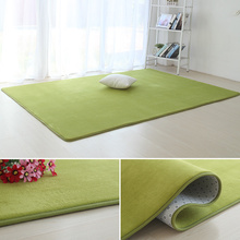 短绒客li茶几地毯绿ui长方形地垫卧室铺满宝宝房间垫子可定制
