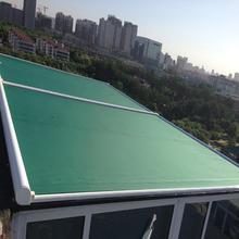 阳光房li外室外顶棚ui帘电动遥控双轨道伸缩式天幕遮阳蓬雨棚