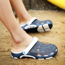 凉鞋男li洞鞋男士拖ya鞋夏季凉拖鞋男潮防滑男生女半拖鞋情侣