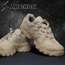 春秋户li军靴男女特ge便防水沙漠靴战术靴徒步低帮登山鞋防滑