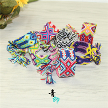 波西米li民族风手绳ge织手链宽款五彩绳友谊女生礼物创意新奇