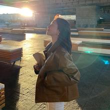 EKOllL短式puld套女春季2021新式韩款百搭修身显瘦机车皮夹克