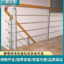 l楼梯ll手栏杆阳台ld栏PVC玻璃欧式围栏北欧别墅阁楼家用l