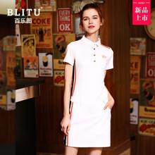 [lmor]高尔夫衣服女套装夏季短袖