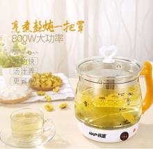 韩派养lm壶一体式加yz硅玻璃多功能电热水壶煎药煮花茶黑茶壶