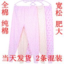 老年的ln纯棉宽松老rk高腰加肥加大码线裤棉毛裤妈妈奶奶