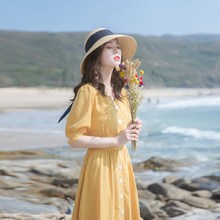 202ln夏季新式女hq裙子修身显瘦轻熟风气质洋气法式(小)众连衣裙