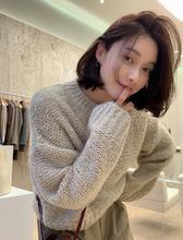韩国代ln正品 20qc冬女装 韩范潮流服饰 马海毛可爱温暖针织衫