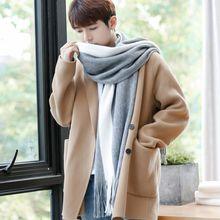 韩款围ln男冬季简约xf暖加厚学生日系风毛线围脖女潮