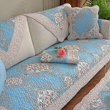 纯棉沙发垫四季防lo5通用坐垫an季欧式实木简约现代沙发罩套