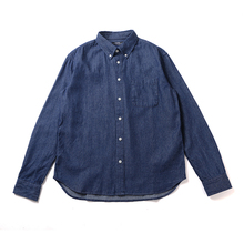 RADloUM 春季gi仔衬衫 潮牌新品日系简约纯棉休闲男士长袖衬衣