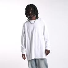 蜜丘琳新品基础式国潮说lo8嘻哈街舞gi衫重磅(小)领口长袖T恤