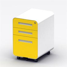 三抽活lo柜(小)推柜多cr动柜资料柜办公柜钢制圆弧活动柜带刹车