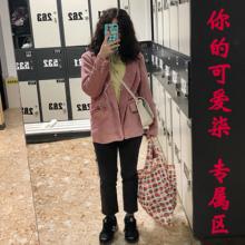 新式旅lo可网红单肩cr容量手提买菜包环保草莓促销