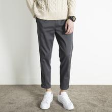 简质男lo秋季裤子男om休闲裤男宽松直筒九分裤男士潮流男裤