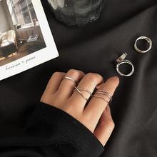 inslo四件套时尚ma红女(小)众设计超仙冷淡风套装食指关节戒