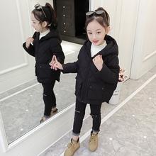 女童短lo棉衣202on女孩洋气加厚外套中大童棉服宝宝女冬装棉袄
