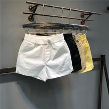 松紧腰lo闲短裤女2id夏季新式韩款宽松显瘦宽松糖果色阔腿裤热裤
