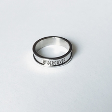 UCCloVER 1en日潮原宿风光面银色简约字母食指环男女戒指饰品