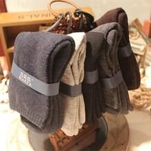 日系冬lo加厚保暖纯ni中筒袜子 商务全棉毛圈男袜 兔子