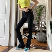 175lo个加长女裤to色微喇叭牛仔裤显瘦修身高腰2020春季新式