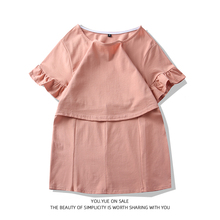 【哺乳lo超市】夏季to衣外出纯棉短袖薄式喂奶T恤时尚辣妈式