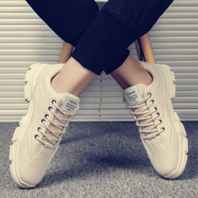 马丁靴lo2020春ce工装运动百搭男士休闲低帮英伦男鞋潮鞋皮鞋