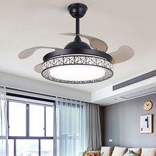 隐形静lo风扇灯吊扇es家用变频餐厅大风力卧室电风扇一体吊灯