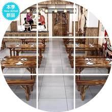 实木碳lo桌椅  食es店 快餐店 (小)吃店 烧烤店 面馆 餐厅大排档