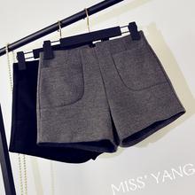 [lqhqlxs]毛呢短裤女冬季外穿202