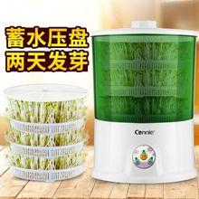 新式豆lq机家用全自lm量多功能智能生绿豆芽机盆豆芽菜发芽机