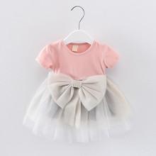 公主裙lq儿一岁生日cw宝蓬蓬裙夏季连衣裙半袖女童
