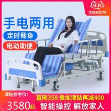 家用病lr翻身床防褥jc床多功能老的手动护理床