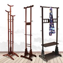 红木衣lu落地式家用ui冬天大衣架卧室收纳置物衣服实木