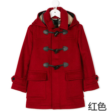 202lu童装新式外bo童秋冬呢子大衣男童中长式加厚羊毛呢上衣