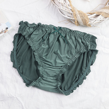 内裤女大lu1胖mm2bo腰女士透气无痕无缝莫代尔舒适薄款三角裤