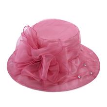夏季大lu可折叠欧根fu沙滩遮阳帽子时装帽太阳帽女帽