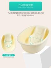 婴儿洗lu盆宝宝浴盆ng用品可坐躺一体式圆形(小)号幼儿沐浴盆盘