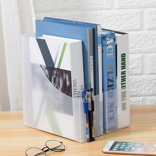 透明磨lu 简约桌面wu 办公资料收纳框日式收纳盒文件架