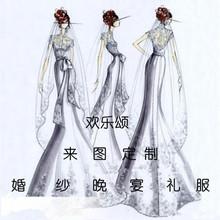 婚纱清lu(小)礼服来图in身性感礼服清新可爱主持晚装裙婚纱